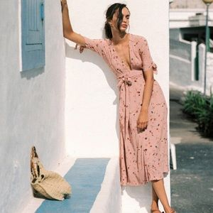 Faithfull The Brand Salina floral Nina Midi dress